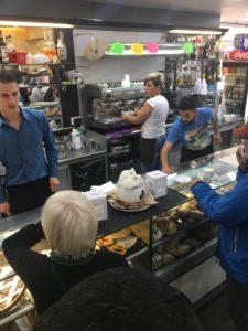 Busy Roman Coffee Bar