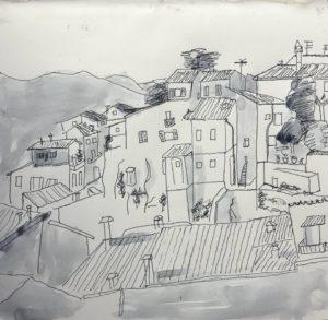 Orvieto, Umbria sketch